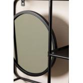 Metalen plank met spiegel Niver, miniatuur afbeelding 3