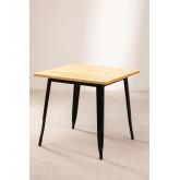 LIX houten tafel (80x80), miniatuur afbeelding 1
