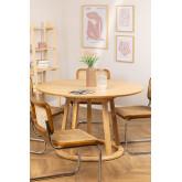 Ronde houten eettafel (Ø120 cm) Celest, miniatuur afbeelding 1