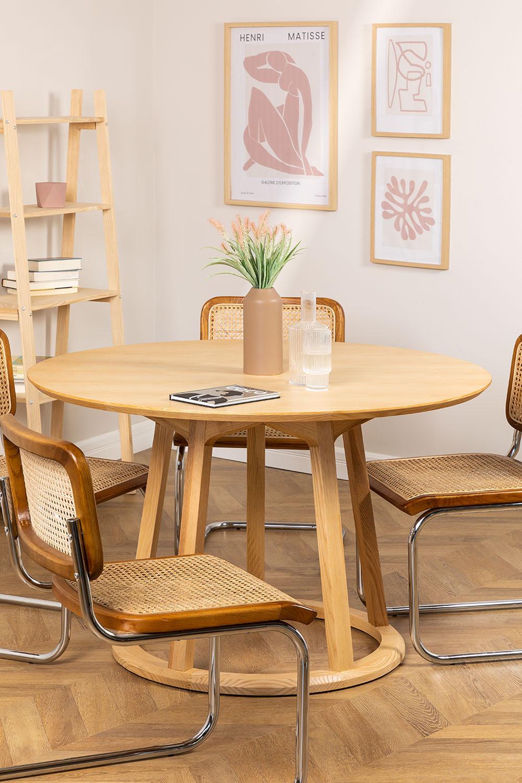 Ronde houten eettafel (Ø120 cm) Celest, galerij beeld 1