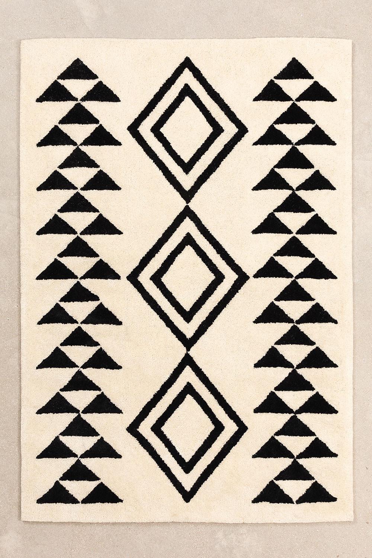 Wollen vloerkleed (175x125 cm) Bloson, galerij beeld 1
