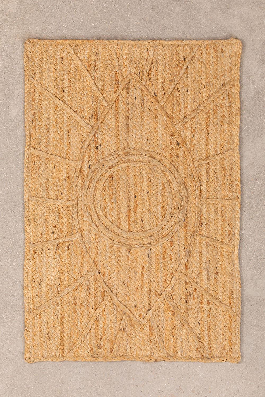 XL Gevlochten deurmat in Jute (90x60 cm) Elaine, galerij beeld 1