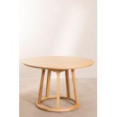 Ronde houten eettafel (Ø120 cm) Celest, miniatuur afbeelding 2