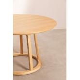 Ronde houten eettafel (Ø120 cm) Celest, miniatuur afbeelding 3