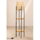 Vloerlamp met bamboe planken Loopa, miniatuur afbeelding 2