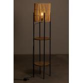 Vloerlamp met bamboe planken Loopa, miniatuur afbeelding 3