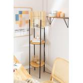 Vloerlamp met bamboe planken Loopa, miniatuur afbeelding 1