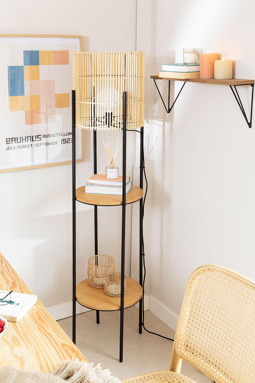 Vloerlamp met bamboe planken Loopa, galerij beeld 1