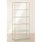 5 planken rekken in metaal en verticaal glas, miniatuur afbeelding 2