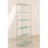 5 planken rekken in metaal en verticaal glas, miniatuur afbeelding 3