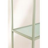 5 planken rekken in metaal en verticaal glas, miniatuur afbeelding 5