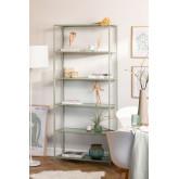 5 planken rekken in metaal en verticaal glas, miniatuur afbeelding 1