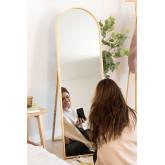 Staande spiegel in grenenhout (137x45,5 cm) naty, miniatuur afbeelding 1