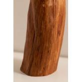 Tafellamp in stof en Lobra-hout, miniatuur afbeelding 5
