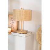 Tafellamp in rotan en metaal Bizay, miniatuur afbeelding 1