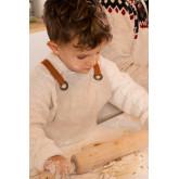 Linnen en katoenen schort Zacari Kids, miniatuur afbeelding 2