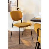 Taris Fluwelen gestoffeerde eetkamerstoel, miniatuur afbeelding 1