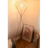 Rotan vloerlamp Xauron, miniatuur afbeelding 2