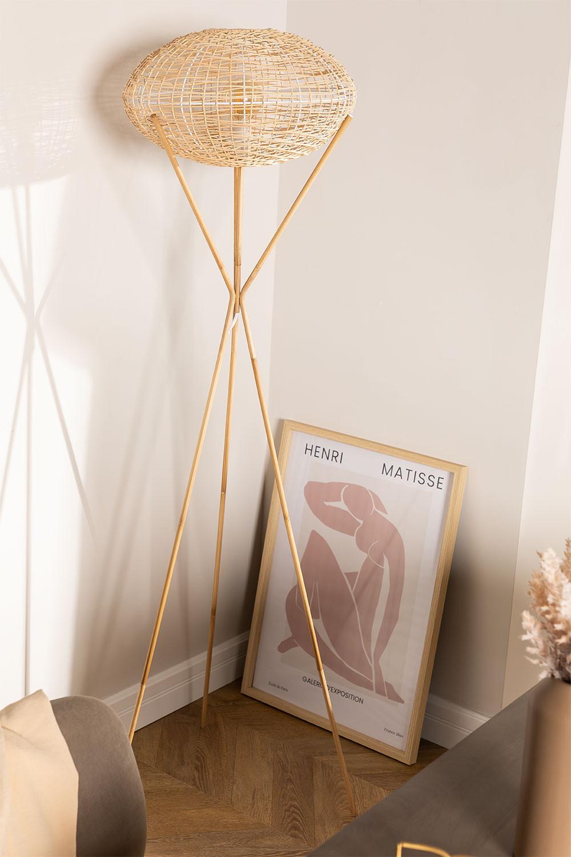 Rotan vloerlamp Xauron, galerij beeld 1