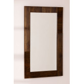 Rechthoekige houten wandspiegel (120x70,5 cm) Medel, miniatuur afbeelding 1