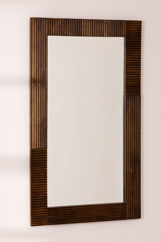 Rechthoekige houten wandspiegel (120x70,5 cm) Medel, galerij beeld 1