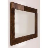 Rechthoekige houten wandspiegel (120x70,5 cm) Medel, miniatuur afbeelding 3