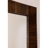 Rechthoekige houten wandspiegel (120x70,5 cm) Medel, miniatuur afbeelding 4