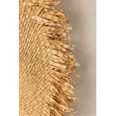Ronde wandspiegel in Raffia (Ø55 cm) Deani, miniatuur afbeelding 4