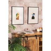 Set van 2 decoratieve vellen (30x40 cm) Boem, miniatuur afbeelding 1