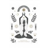 Set van 3 decoratieve bladen (50x70 en 30x40 cm) Boeddha, miniatuur afbeelding 2
