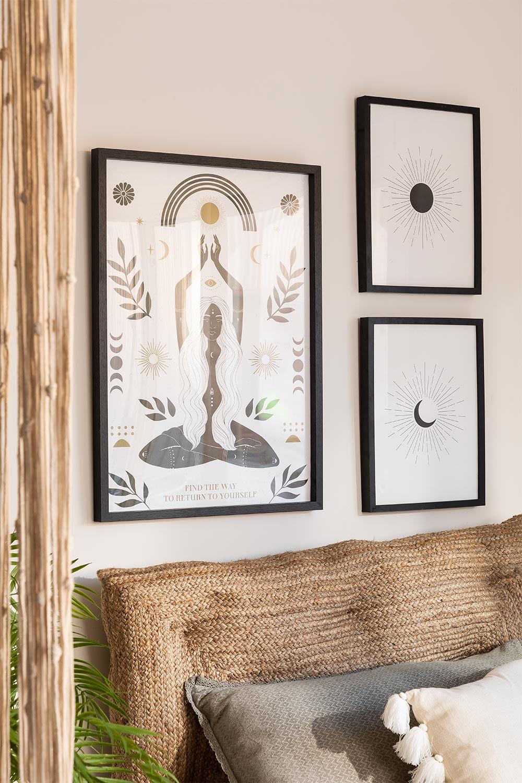 Set van 3 decoratieve bladen (50x70 en 30x40 cm) Boeddha, galerij beeld 1