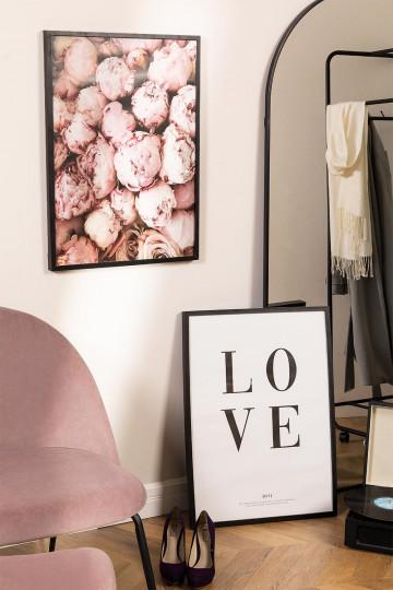 Set van 2 decoratieve afbeeldingen (50x70 cm) Rose Love