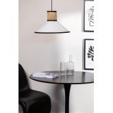 Plafondlamp in rotan Ayram, miniatuur afbeelding 1