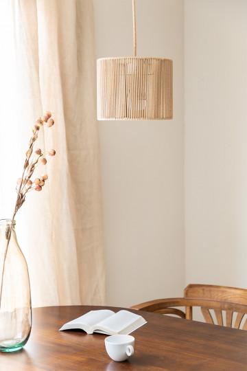 Uillo nylon touw plafondlamp