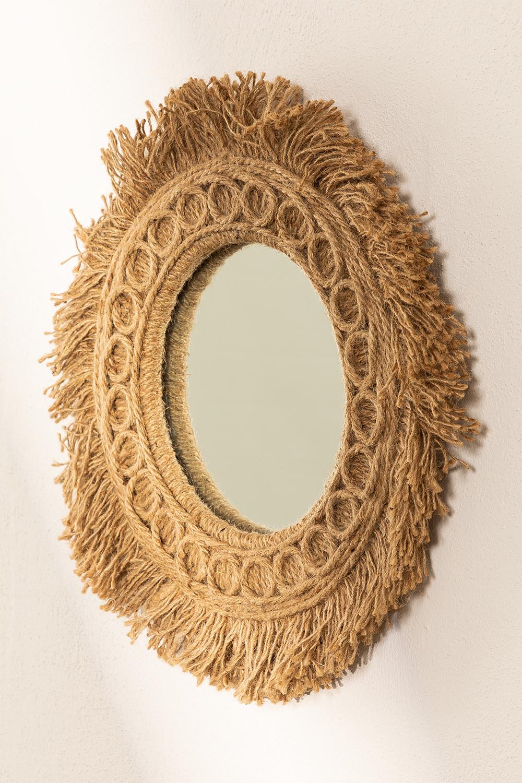 Ronde wandspiegel met touw (Ø40 cm) Remie, galerij beeld 1