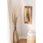 Teakhouten wandspiegel Unax, miniatuur afbeelding 1