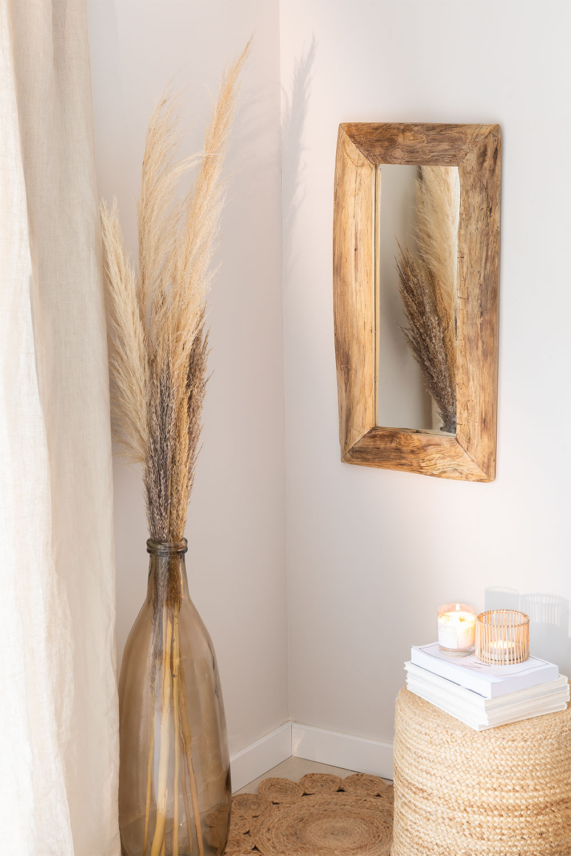 Teakhouten wandspiegel Unax, galerij beeld 1