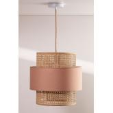 Plafondlamp in rotan satu, miniatuur afbeelding 2