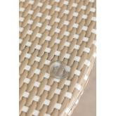 Ronde tuintafel in kunststof wicker (Ø80 cm) Alisa, miniatuur afbeelding 3