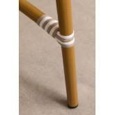 Ronde tuintafel in kunststof wicker (Ø80 cm) Alisa, miniatuur afbeelding 4