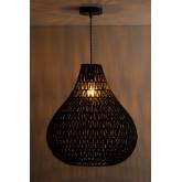 Nok plafondlamp van gevlochten papier, miniatuur afbeelding 3