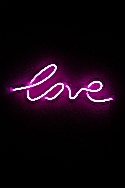 Neon figuur met USB-liefde, galerij beeld 1