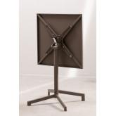 Opklapbare en converteerbare bartafel in 2 hoogtes in staal (60x60 cm) Dely , miniatuur afbeelding 4