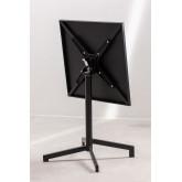 Opklapbare en converteerbare bartafel in 2 hoogtes in staal (60x60 cm) Dely , miniatuur afbeelding 5