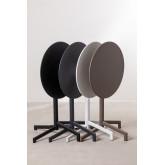 Opklapbare en converteerbare bartafel in 2 hoogtes in staal (Ø59,5 cm) Dely , miniatuur afbeelding 5