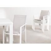 Starmi Uitschuifbare tafelset (180 - 240 cm) & 6 Eika tuinstoelen, miniatuur afbeelding 3