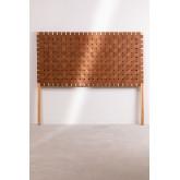 Zaid houten en leren hoofdeinde voor bed van 150 cm, miniatuur afbeelding 3