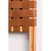 Zaid houten en leren hoofdeinde voor bed van 150 cm, miniatuur afbeelding 4