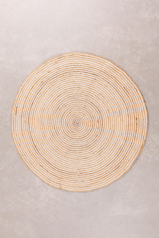 Rond vloerkleed van natuurlijk jute (Ø120) Crok, galerij beeld 1