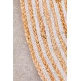 Rond vloerkleed van natuurlijk jute (Ø120) Crok, miniatuur afbeelding 3